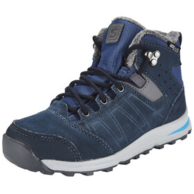 Salomon Utility TS CSWP Winter Shoes Juniors Slateblue/Deep Blue/Pool